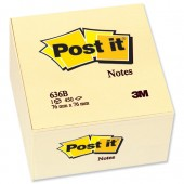 Post-It Note Block 636-B Yellow 76X76mm
