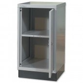 Bisley Cupboard Ba3/29 & 1Shelf G/Grey