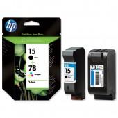 HP 15&78 Inkjet Cart Blk&Col PK2 SA310AE