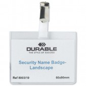 Durable Security Name Badge 8603 Pk5