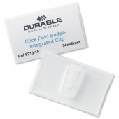 Durable ClickFold Name Badge I/Clip PK25