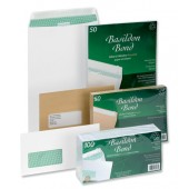 BBond Envelopes C4Wht Wdw S/wrap Pk50