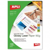 Apli Laser Glossy DS Paper A4 160g Pk100