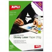 Apli Laser Glossy DSPaper A4 210g Pk100