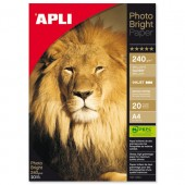 Apli PhotoBright Paper A4 240g Pk20 4454