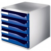 Leitz Post Set 5Drawer A4 Blue 5280-35