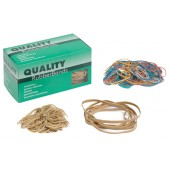 Quality Rubber Bands Asst Col 100g