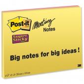 Postit Ssticky Mte Nots 8x6 6845-SSP Pk4