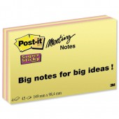 Post-it Ssticky Mte Nts 6x4 6445-SSP Pk4