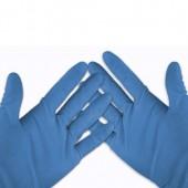 &FrankSamm Blue Vinyl Gloves 100 Pairs