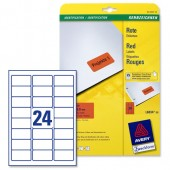 Avery Laser Labels Red L6034-20