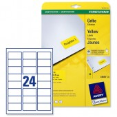 Avery Laser Labels Yellow L6035-20