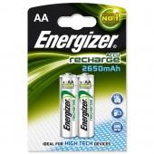 &Energizer Rchrgbl HPerf AA Pk2 2650mah