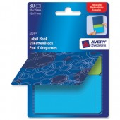 &Avery Remb Label Pad Bk Blu&Grn 8325