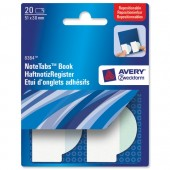 &Avery NoteTabBk 51x38 Wave Blu&Grn 8364
