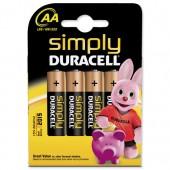 Duracell Simply Batt AA MN1500 Pk4