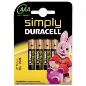 Duracell Simply Batt AAA MN2400 Pk4