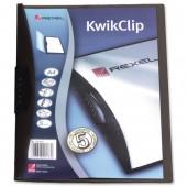 Rexel KwikClip PP Black 14630091 Pk.25