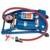 &Twin Cylinder Foot Pump&Gauge 25996