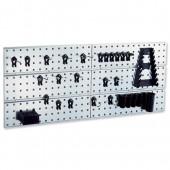 &Raaco 2 Tool Wall Panels&clips 109642