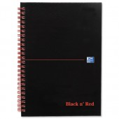 Black N Red Bk A5 Recyc W/Bnd 100080113