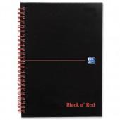 Black N Red Bk A5 Recyc W/Bnd 100080113