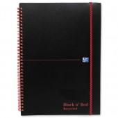 Blk N Rd Book A5 Rcyc W/Bnd PP 100080221