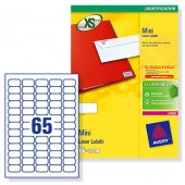 Avery Labels 38.1X21.2 Wht LaserL7651-25