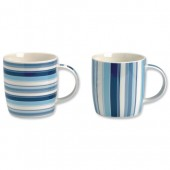 Churchill Cobalt Stripe Mug Set Pk6