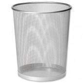 Osco Mesh Waste Bin Silver Wb35 S