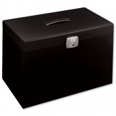Black metal foolscap file box 040121