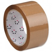5 Star Packaging Tape 50mmX66M Buff 2317