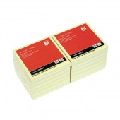 5 Star Re-Move Notes Repositionable Pad of 100 Sheets 75x75mm Yellow [Pack 12]