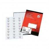 5 Star Labels Laser and Inkjet 24 per Sheet 70x37mm White [2400 Labels]