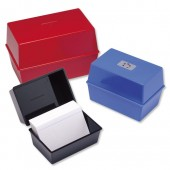 5 Star Card Index Box 6X4 Black