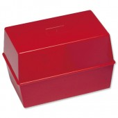 5 Star Card Index Box 6X4 Red