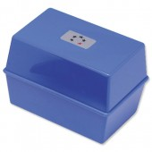 5 Star Card Index Box 8X5 Blue