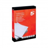 5 Star Copier Paper Multifunctional Ream-Wrapped 80gsm A4 White [500 Sheets] (One Ream 500)