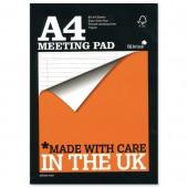 &Silvine A4 MeetingPad Tbnd 160pg R406