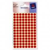 Avery Labels Packet520 8mmDia Red 32-301