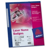 Avery Name Badges Refill Laser L7418-25