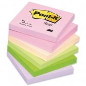 PostIt Warm Pastel 3x3 654FL