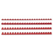 5 Star Plastic Combs A4 6mm Red Pk100