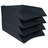 Intensive Letter Trays Pk6 Black