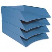 Intensive Letter Trays Pk6 Blue