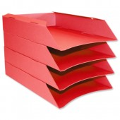 &Intensive Letter Trays Pk6 Red