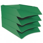 &Intensive Letter Trays Pk6 Green