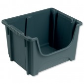 &BartonStorage 50L Euro Stack Bin Grey