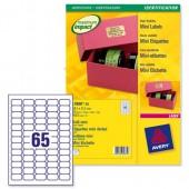 &Avery Labels Gold Mini Address L7680