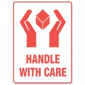 Adpac ParcelLbl Hand With Care SG108HA